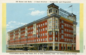 California Hotel, San Pablo Ave. at 35th, Oakland, California
